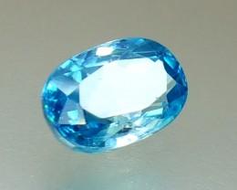 3.50 Crt Natural Blue Zircon Faceted Gemstone (R 97)