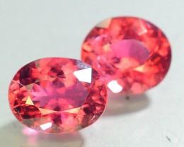 6.80 ct Natural Rubelite Tourmaline Pairs~For Jewelry