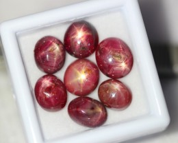 NR Lot 14 ~ 17.77Ct Natural 6 Rays Red Star Ruby