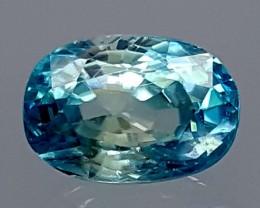 2.95 Crt Top Blue Zircon Gemstone   Jl146