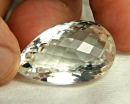 71.45 Carat VVS White Cushion Cut African Quartz - Gorgeous