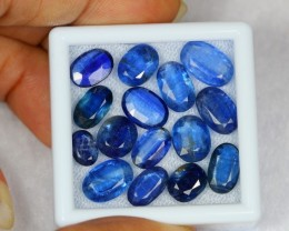 36.84Ct Natural Blue Kyanite Oval Cut Lot V52