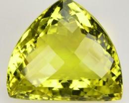 44.37 Cts Natural Lemon Yellow Quartz Trillion Cut Brazil Gem
