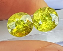 """4.80cts, """"Titanite"""",  Top Fire Pure Green..  Eye Clean"""
