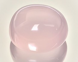 49.53ct Pale Pastel PInk Rose Quartz Large Cabochon Lovely effulgence