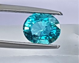 1.45cts Blue Apatite,  Paraiba Colored,