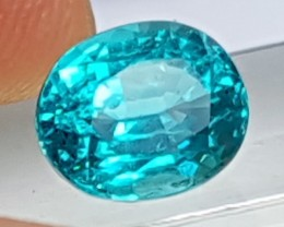 2.52cts Blue Apatite,  Paraiba Colored,