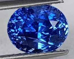 2.58cts,  Ceylon Blue Sapphire,  Cornflower Blue,  Heat Only,  Clean