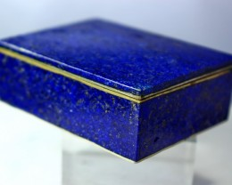 529 CT Natural lapis lazuli Carved Box Stone Special Shape