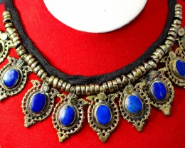 437CT Natural lapis lazuli Carved Necklaces Special Shape