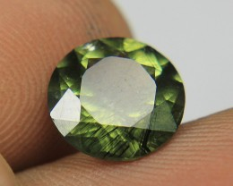 Peridot hair-like Ludwigite inclusions From Pakistan Collector's Gem