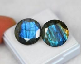 Lot 03 ~ 16.90Ct Natural Blue Flash Color Labradorite