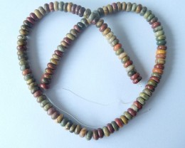 149ct Natural Multi-Color Picasso Jasper Loose Beads,40mm In the Length(171