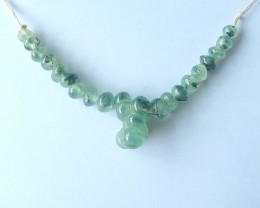 Free Shipping!!! 158ct Natural Prehnite Necklace Pendant 16cm IN The Length