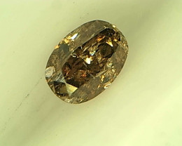 0.14ct Deep Pinkish Brown Diamond , 100% Natural Untreated