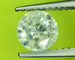 0.85 Crt Natural White Diamond Good Luster Top Quality Faceted Gemstone