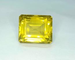 12.95 Crt Natural Lemon Quartz Faceted Gemstone (R 99)