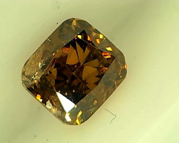 0.30 Fancy Deep Orangish Brown Diamond , 100% Natural Untreated