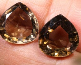 10.45CTS SMOKY QUARTZ NATURAL PAIR TBG-2668