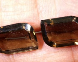 15.50 CTS SMOKY QUARTZ NATURAL PAIR TBG-2670