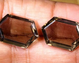 20CTS SMOKY QUARTZ NATURAL PAIR TBG-2671