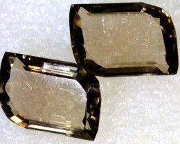 36.5CTS SMOKY QUARTZ NATURAL PAIR TBG-2672