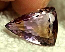 CERTIFIED - 18.19 Carat Ametrine Fancy Triangle