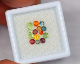 1.72ct Natural Fancy Color Sapphire Round Cut Lot GW1598
