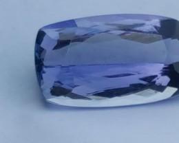 CGL GRS Certified D-Block 5.30 Ct Tanzanite IF Bluish Purple