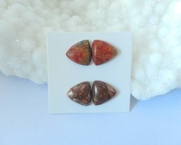 Sell 2pairs Multi-Color Picasso Jasper Cabochons(17111602)