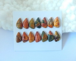 Sell 14 pieces Natural Multi-Color Picasso Jasper Cabochons(17111603)