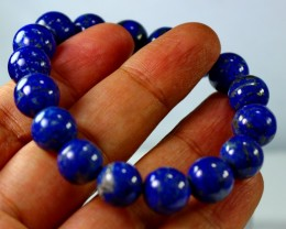202 CT Natural lapis lazuli Bracelets Carved Beads Stone Special Shape