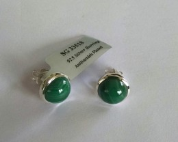 Malachite 925 Sterling silver earrings