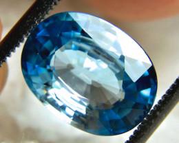CERTIFIED - 5.09 Carat Ocean Blue VVS/VS Zircon - Superb