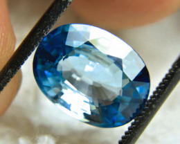 CERTIFIED - 5.09 Carat Ocean Blue VVS/VS Zircon - Superb
