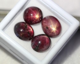Lot 04 ~ 20.42Ct Natural 6 Rays Red Star Ruby