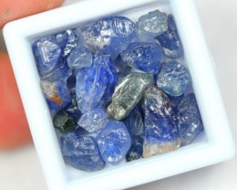 Lot 09 ~ 30.55Ct Natural Unheated Blue Sapphire Rough