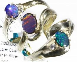 Three Cute Doublet Opal Rings size 7CF1682