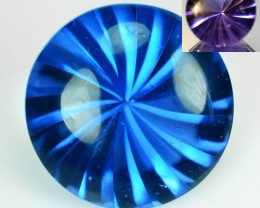 13.95 Cts Natural Color Change Fluorite 15 mm Round Buff Top Brazil Gem