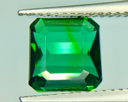 3.35 Crt Natural Green Tourmaline Faceted Gemstone