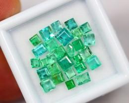NR Lot 02 ~ 4.06Ct Natural Vivid Green Color Zambian Emerald