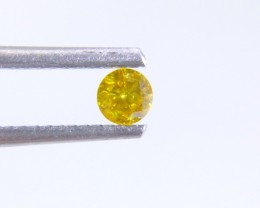 0.17ct Fancy Vivid Yellow Diamond , 100% Natural Untreated