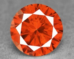 0.09 Cts Natural Fiery Red Diamond Round Africa