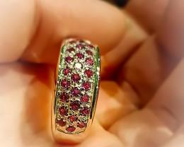 Pink Rhodolite Garnet .925 Sterling Silver Ring No Reserve