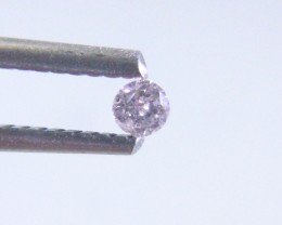 0.06ct Fancy Light Pink Diamond , 100% Natural Untreated