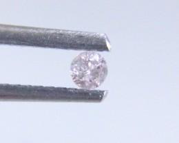 0.09ct lLight Pink Diamond , 100% Natural Untreated