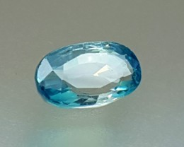 3.05 Crt Natural Blue Zircon Faceted Gemstone (R 101)