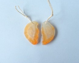 17ct Natural Orange Agate Earring Beads(17111901)