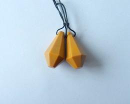 53.5ct Natural Mookite Jasper Earring Beads(17111903)