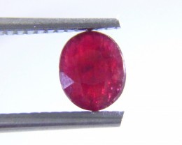 Certified 0.93cts Natural Burmese Ruby , Untreated Gemstone